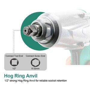 Image 4 - 450W elektryczny klucz udarowy 300Nm Max Torque 1/2 cala gniazdo samochodowe klucz elektryczny zmiana narzędzia opony