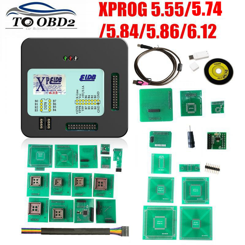 <font><b>XPROG</b></font> <font><b>V5.55</b></font> V5.86 V6.12 V6.17 Black Metal Box Better <font><b>XPROG</b></font> M V 6.12 ECU Programming Interface <font><b>Xprog</b></font>-M 5.55 5.86 6.17 ATMEGA64A image