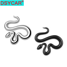 DSYCAR Fashion 3D Metal Snake Car Side Fender Rear Trunk Emblem Badge Sticker Decals for Volkswagen JEEP Wrangler Decorative New