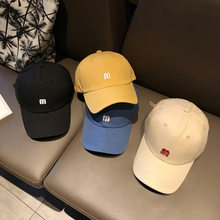 M Letter Embroidery Caps Wing Unisex Chun Summer Baseball Caps Adult Flat Hip Hop Adjusted Big Size Cap(China)