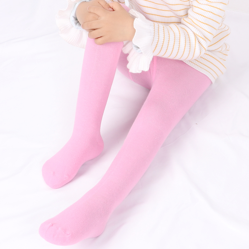 0-6Yrs Children Spring/Autumn Tights Cotton Baby Girl Pantyhose Kid Infant Knitted Tights Soft Infant Clothing 4