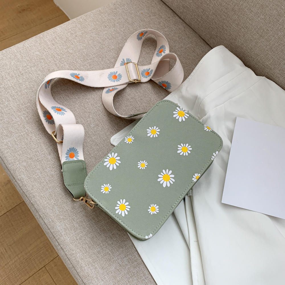 Small PU Leather Shoulder Bags Women Girls Floral Printed Crossbody Bags Classic Elegant Crossbody Shoulder Bags For Women 2020