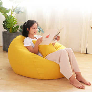 Bean Bag Sofa Lazy Lounger Chair Soft BeanBag Bed Pouf Couch Tatami Memory Foam Filled Furniture and Accessories for Dorm Room