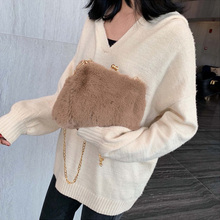 High Quality Corduroy Ladies Messenger Bag Autumn And Winter Plush Shoulder