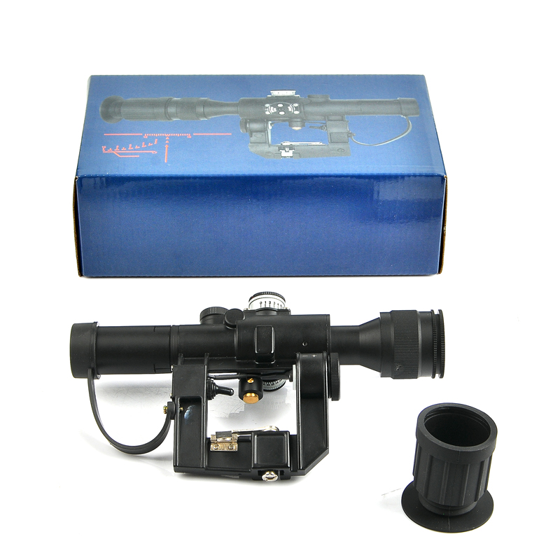 4X24 SVD PSO-1 Type Riflescope With Red Illuminated Glass Etched Reticle Scope For Hunting Collimator Sight
