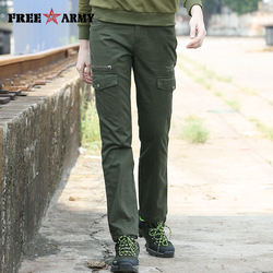 Free Army 2019 New Women's Cargo Pants Outdoor Causal Trousers Female Army Green Fashion Multi-Pockets Jogger Long Pants GK-9398