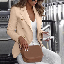Womens Long Sleeve Blazer Suit Coat 2019 new autumn casual suit solid color Office lady business Work Jacket