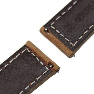 Image 5 - Itália pulseira de couro genuíno para huami amazfit gtr 47mm 42mm relógio inteligente banda liberação rápida borboleta fecho pulseira
