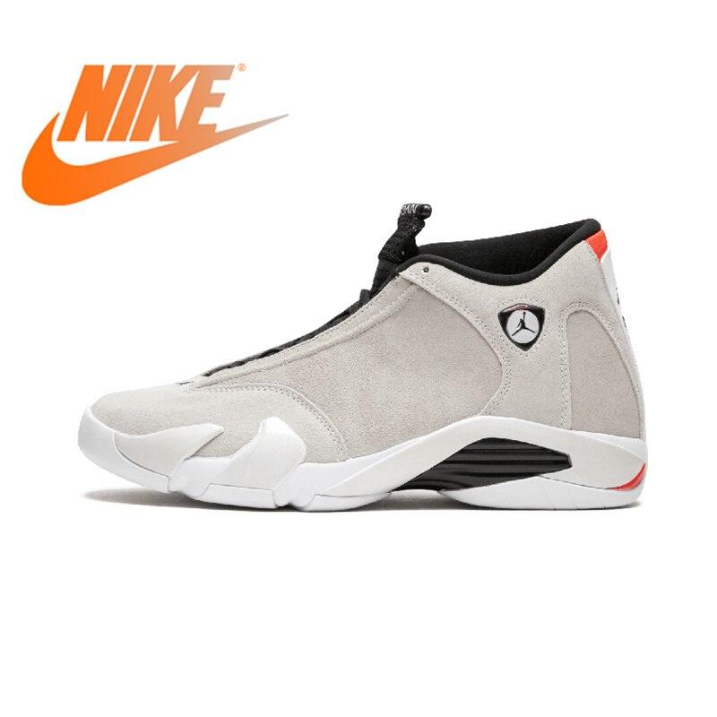 Original auténtico NIKE Air Jordan 14 Retro hombres baloncesto zapatos deporte al aire libre zapatillas de corte medio con cordones buena calidad 487471
