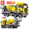 SEMBO BLOCK City Engineering Bulldozer Crane Technic Car Truck Excavator Roller Building Blocks Bricks Construction Toys