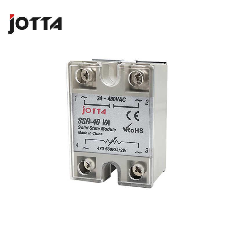 SSR-10VA/25VA/40VA VR Naar AC 40A witte kleur Solid State Voltage Regulator SSVR
