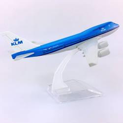 16 см отлитая модель самолета 1:400 Boeing B747-400 модель голландские авиалинии KLM с базовым сплавом самолет коллекционный самолет дисплей игрушка