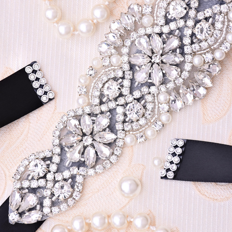 Bridal-Belt Wedding-Sash Rhinestones Diamond for J104S