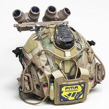 Fma capa para capacete marítimo, capa tática para capacete, multifuncional, bateria equilibrada, bolsa bk/de/mc