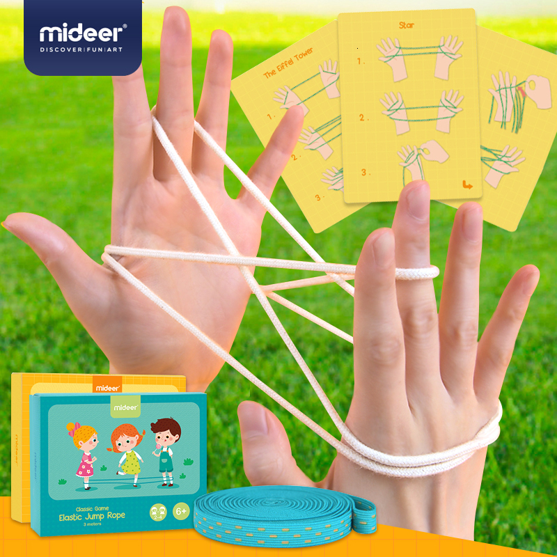 200CM Cat Cradle Rope Flip Hand Finger Game Toy Montessori Materials Kids Learning Educational Toys For Children Party Gadgets