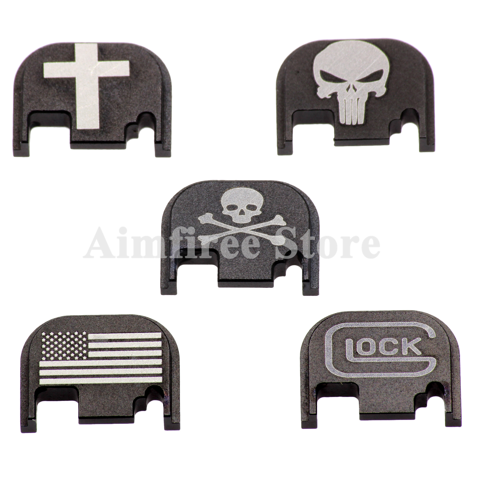 Tactical Rear Cover Slide Plate for Gen 1 2 3 4 Glock 17 19 21 22 23 26 27 31 32 33 34 35 40 41 9mm .45 Pistol Gun Accessories image