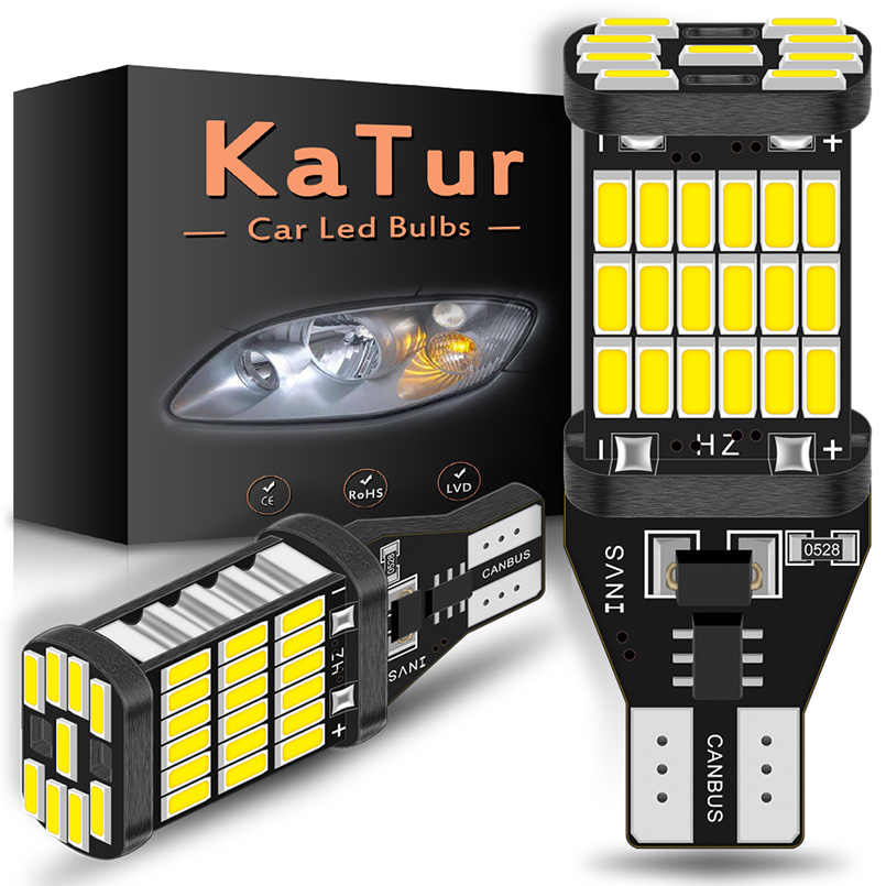 Katur 2Pcs 1200Lm Led T15 W16W LED Canbus Lampu 920 921 912 4014SMD LED Backup Parking Light untuk Mercedes benz W203 W211 W204