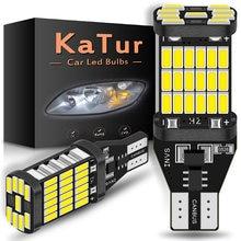 Katur 2 pçs 1200lm t15 w16w led canbus lâmpadas 920 912 4014smd branco 12v led invertendo luzes para bmw mercedes benz w203 w211 w204