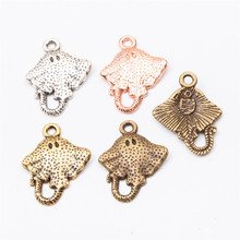 50Pcs/lot Cute Manta Ray Charms Cute Ocean Animal 20*15*2MM Manta Ray Pendant for Jewelry Making advken manta tank