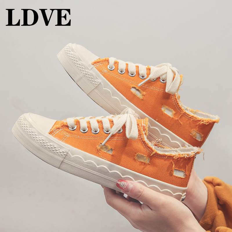 Canvas Fashion Shoes Woman 2019 Autumn New Classic Women Casual Flats Solid Sneakers