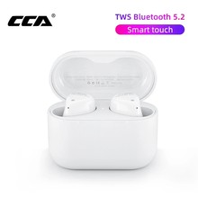 CCA CC1 TWS Wireless Earphones Bluetooth 5.2 Sports Gaming Earbuds HD Stereo Built-in Mic For Xiaomi iPhone Huawei Piano Sound