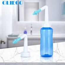 Средство для мытья носа для взрослых и детей, защита носа, очищающее средство, увлажняет горшок нети, 300 мл, для йоги, Детокс, синус, облегчение аллергии, краску и соль