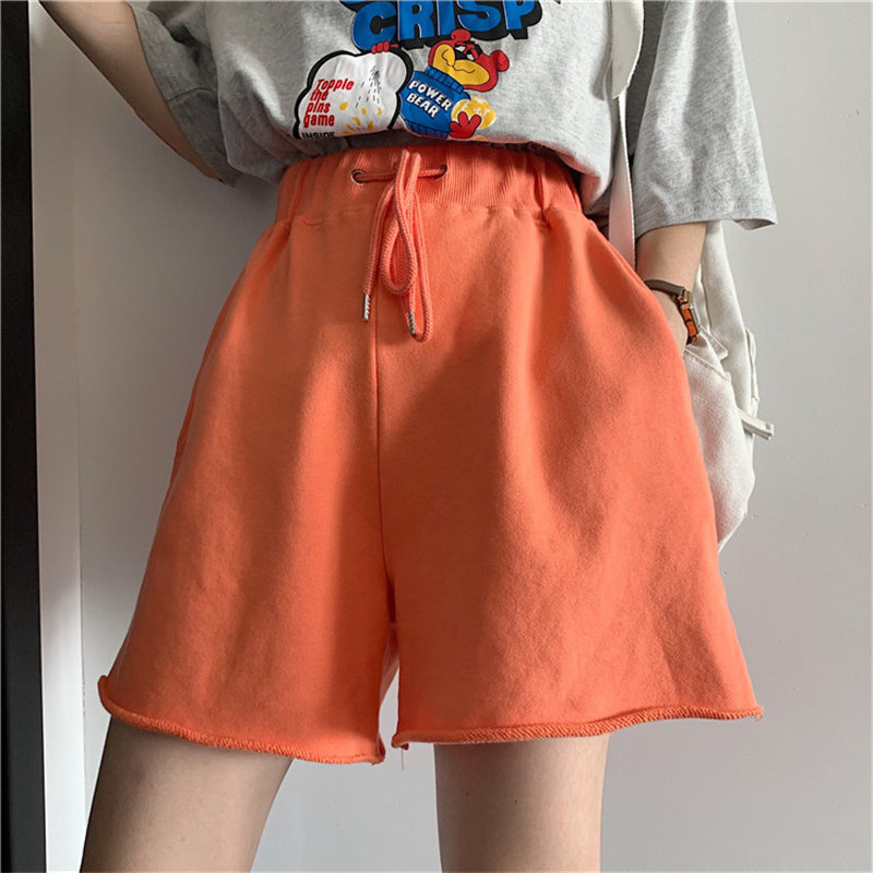 Alien Kitty Chic Fashion Solid Brief Waist-Controlled Sports Shorts Leisure 2020 Hot Cotton All Match Women Loose Casual Shorts