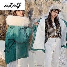 2019 Women Winter Jacket M-2XL Plus Size Thick Warm Parka Fake Fur Hooded Coat Pockets Windbreaker