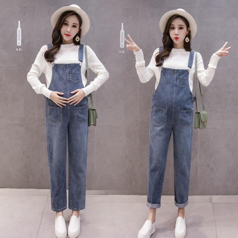Denim Maternity Bib Jeans Trousers Pants for Pregnant Women Overalls Jumpsuits Clothes Pregnancy Uniforms Suspenders Plus Size