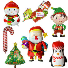 цена на Merry Christmas Decoration Balloons Santa Claus Snowman Christmas Foil Balloons Christmas Party Decorations Xmas New Year Decor
