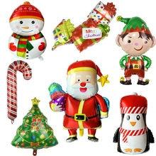 Feliz natal decoração balões papai noel boneco de neve folha de natal balões festa de natal decorações de natal decoração de ano novo