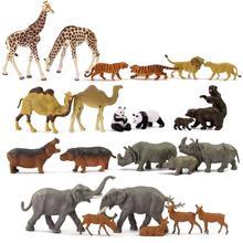 Model pociągu 1 87 dobrze malowane pcv HO skala dzikie zwierzęta słoń wielbłąd żyrafa Hippo nosorożec jeleń łoś tygrys lew Panda niedźwiedź tanie tanio 14 lat 1 87 CN (pochodzenie) Słonie AN8700 Z tworzywa sztucznego HO Scale Animals Can not eat Unisex