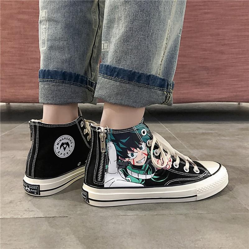 printed high top sneakers