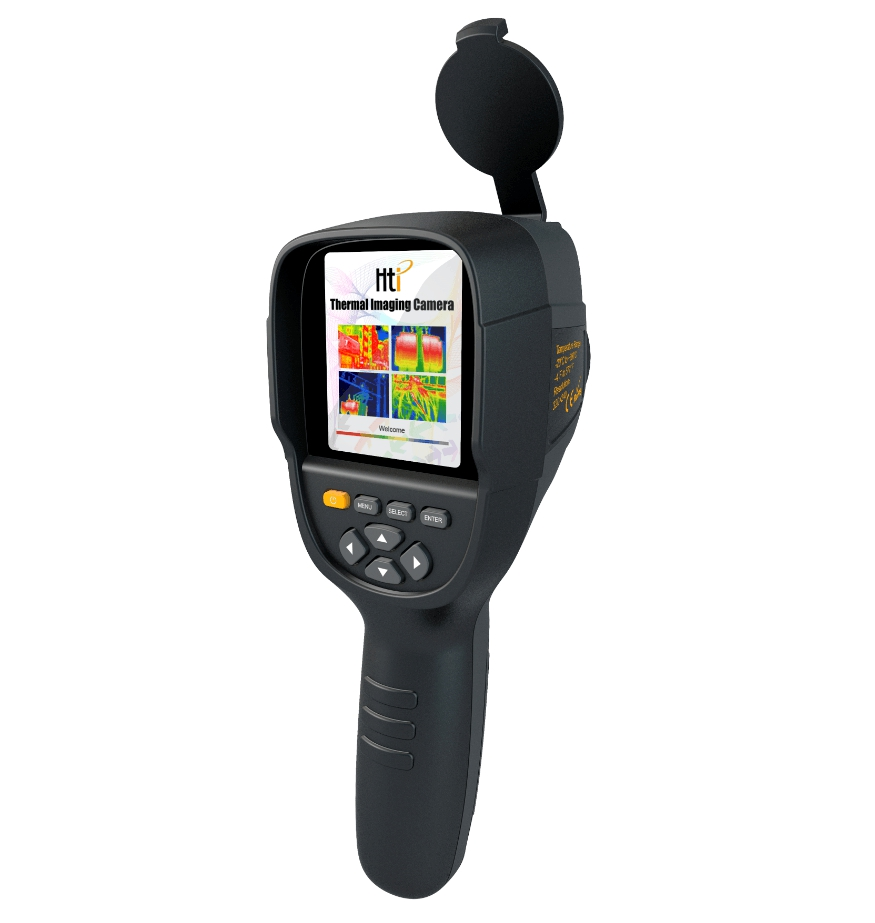 Caméra de détecteur d'imageur thermique numérique infrarouge de chaleur de la température infrarouge tenue dans la main de HT-19 avec la résolution 320x240 de stockage 3.2''