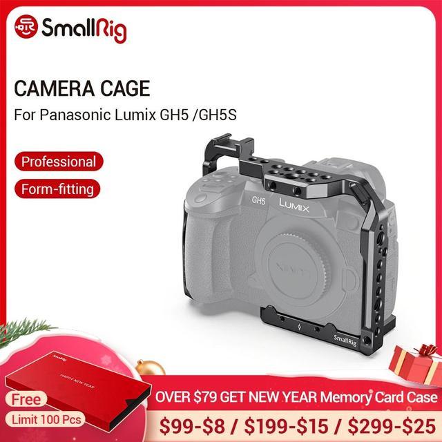 SmallRig для Panasonic Lumix GH5 /GH5S клетка для камеры с резьбой 1/4 3/8 отверстия + крепление для холодной обуви Набор рельсов NATO 2646
