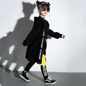 Image 2 - Костюм для мальчиков и девочек, современный танцевальный костюм в стиле хип хоп, для выступлений на сцене, DNV11113, 2019