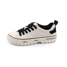 YeddaMavis Shoes Off White Women Sneakers New Korean Wild PU Lace Up Casual Womens Woman Trainers