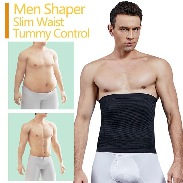 VASLANDA Men Waist Trimmer Belt Slimming Body Shaper Weight Loss Lumbar Trainer Shapewear Sweat Girdle Corset Cintas Modeladora 1