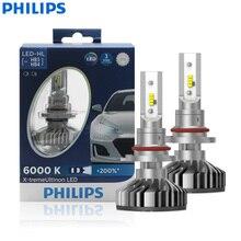Philips LED x treme Ultinon 9005 9006 HB3 HB4 12V 11005XUX2 6000K para faros delanteros de coche bombillas automáticas + 200% más brillantes (paquete doble)