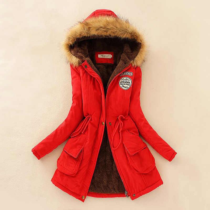 Parka Winter Jacke Frauen Dicke Warme Mit Kapuze Frauen Parka 16 Farbe Jacke Frauen Winter Mantel Parka Frauen Baumwolle Jacke Weibliche 2019