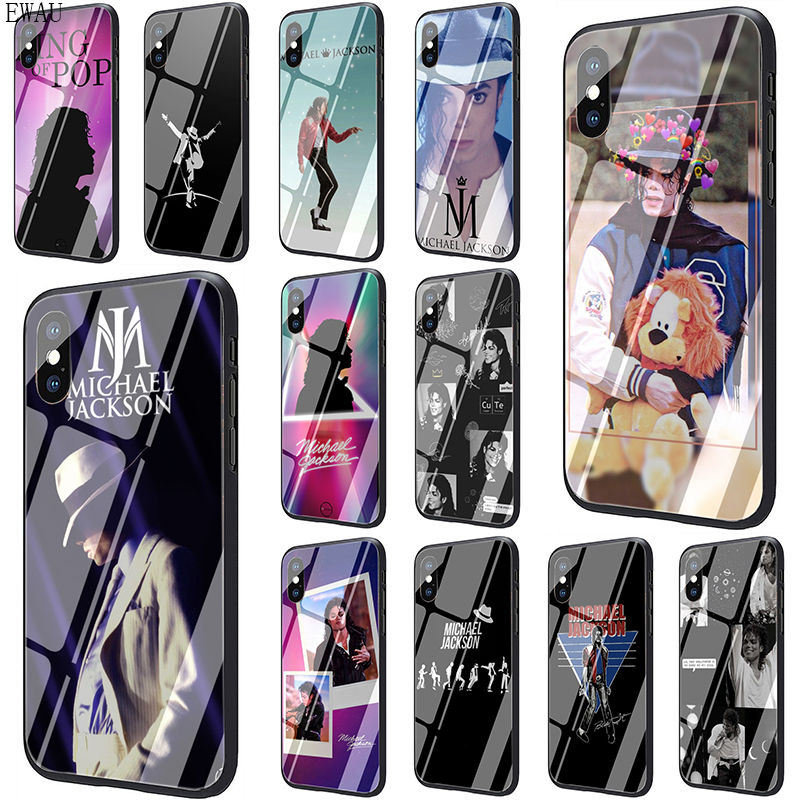 EWAU Michael Jackson Tempered Glass phone case for iphone 5 5s SE 6 6s 7 8 Plus X XR XS 11 pro Max image