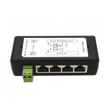 4 порт Poe Инжектор Poe адаптер питания ethernet блок питания Pin 4,5(+)/7,8(-) Входной Dc12V-Dc48V для ip-камеры
