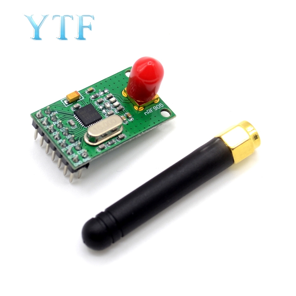 433 868 915 MHz NRF905 Wireless Transceiver Module Transmitter Receiver Board NF905SE With Antenna FSK GMSK Low Power