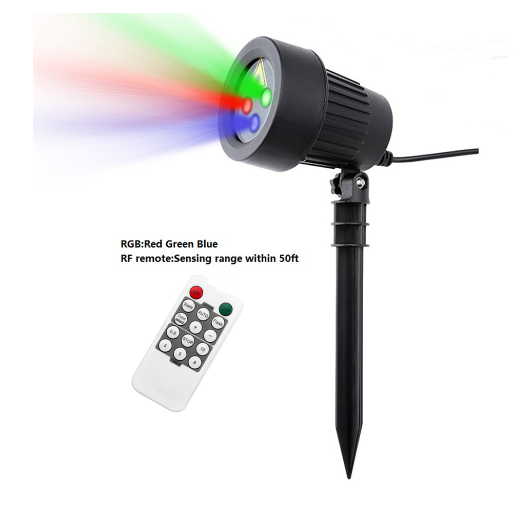 Laser Projector Star Lights Christmas Outdoor Waterproof IP65 Red Green Blue Showers Lawn Lamps Sky Static Garden Decoration