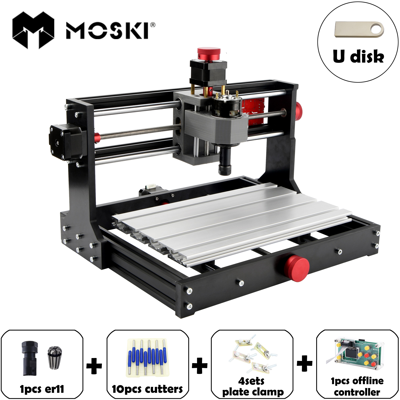MOSKI,CNC 3018 Pro,diy Cnc Engraving Machine,Pcb Milling Machine,laser Engraving,GRBL Control,cnc Engraver,cnclaser,cnc 3018 Pro