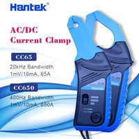 Hantek-Osciloscopio con pinza de corriente, instrumento con enchufe y ancho de banda de 1mV/10mAm 65A/650, 20KHz/400Hz, BNC, AC/DC