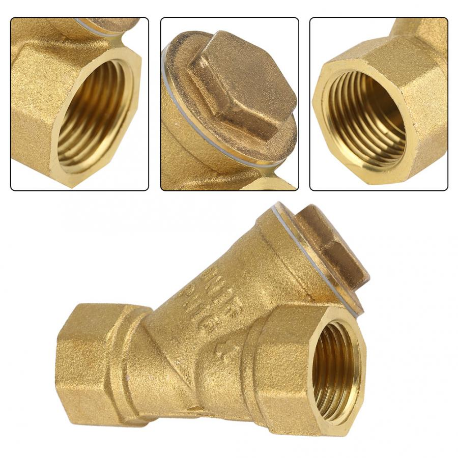 Female Thread Strainer Y Shaped Brass Screen Filter Pipe Fittings for Water Oil Separation
