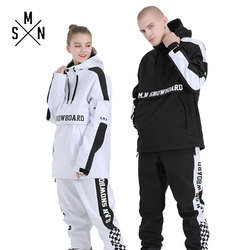 SMN Hoodies Winter Paar Ski Anzug Unisex Wasserdicht Atmungsaktiv Warme Wind Beständig Outdoor Skifahren Und Snowboarden Sport Anzug