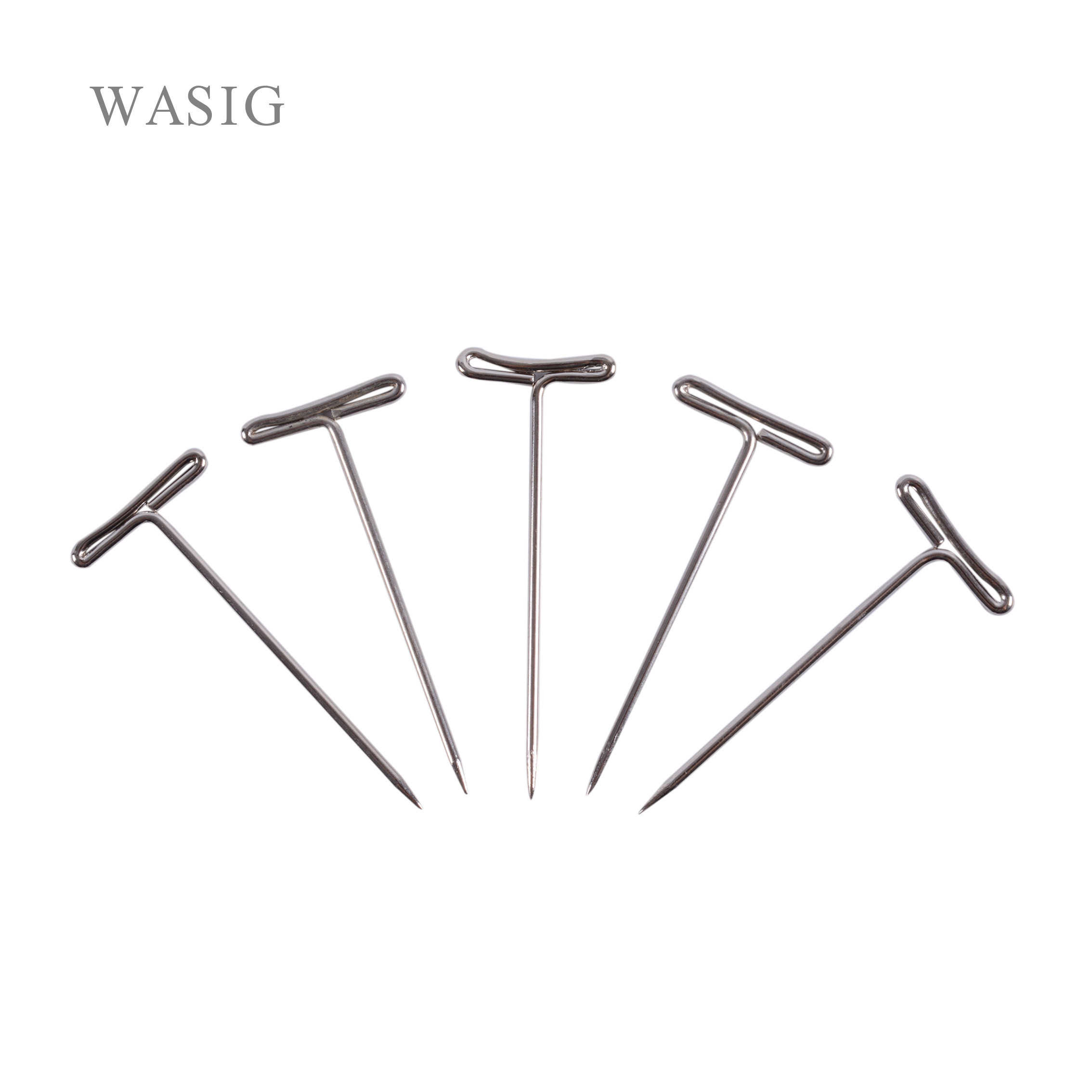 50pcs T-PINS (40mm) For Wig On Foam Head Style T Pin Needle Brazilian Indian Mannequin Head Type Sewing Hair Salon