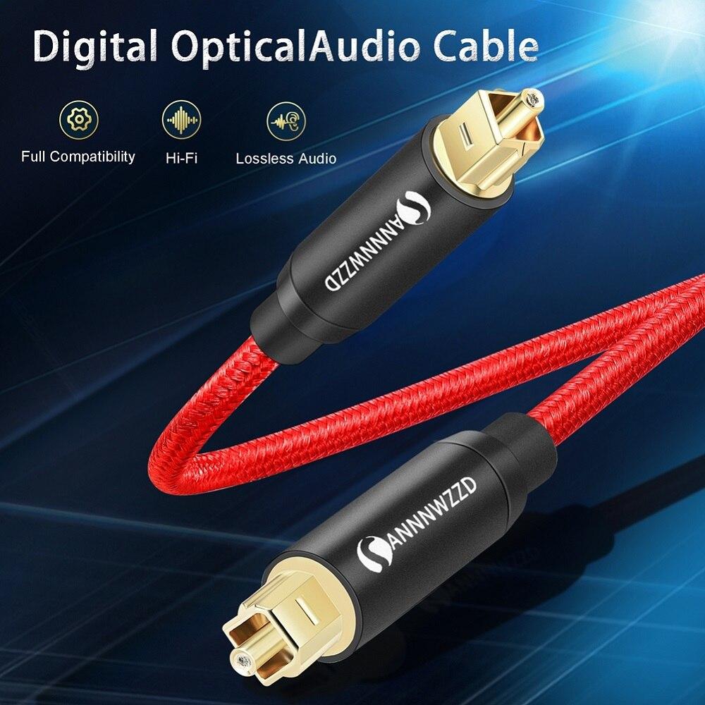 Cabo da fibra do soundbar do jogador xbox 360 de blu-ray dos amplificadores do orador de toslink da fibra de spdif do cabo audio ótico de digitas para a caixa da tevê